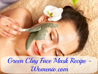 Green clay faca mask