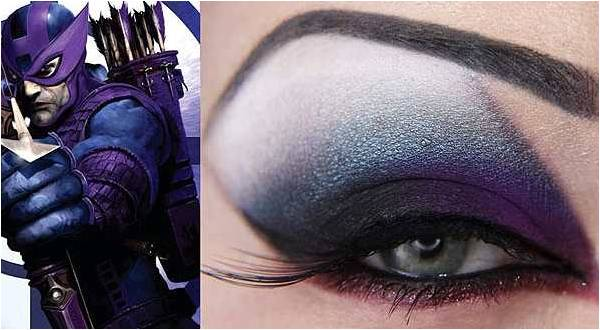 yeshadow inspired by Hawkeye from Avengers