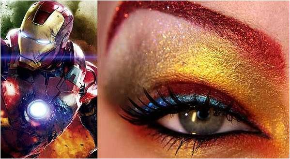yeshadow inspired by Iron Man from Avengers