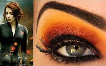 eyeshadow inspired by Natasha Romanoff from Avengers