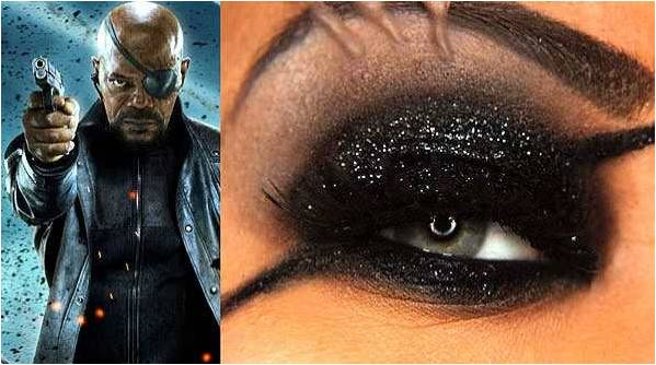 eyeshadow inspired by Nick Furry from Avengers