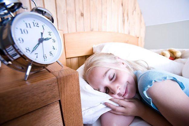 blonde girl taking a power nap