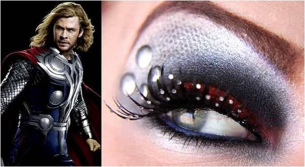 eyeshadow inspired by Thor from Avengers