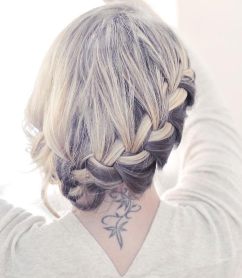 side braids half up