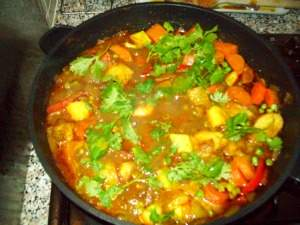 Homemade Curry with vegetables