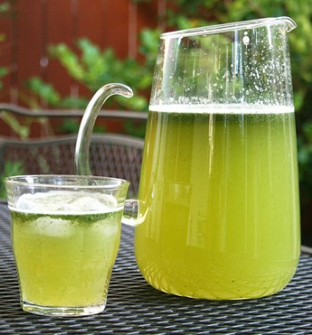 a cup of mint lemonade