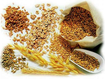 Various whole grains