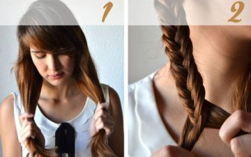 Fishtail Braid Up Hairstyle Tutorial