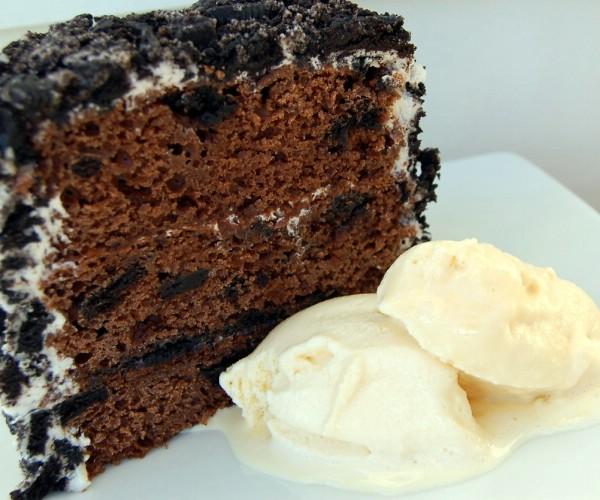 Served Oreo cake