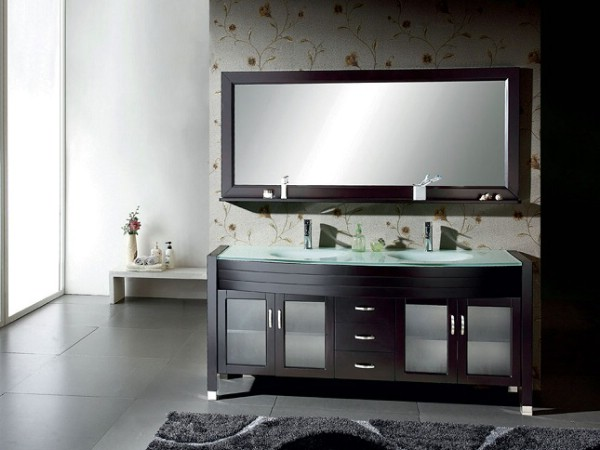 Palm solid bathroom vanity