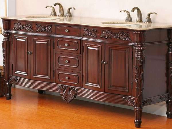 Lovely Stratford antique cherry bathroom vanity
