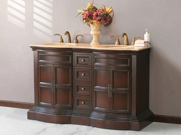 Tuscany antique walnut bathroom vanity
