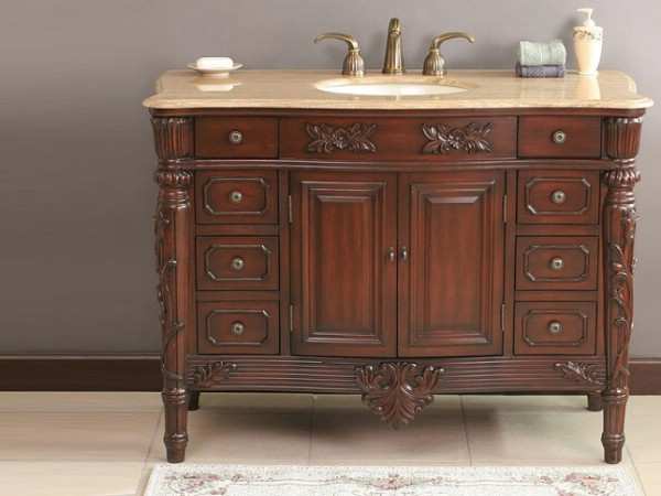 York cherry finish bathroom vanity