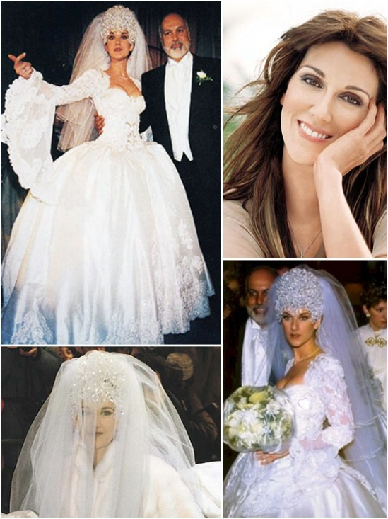 Celine Dion's wedding dress