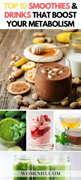 TOP 10 SMOOTHIES and DRINKS THAT BOOST YOUR METABOLISM