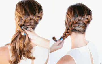 French braid into a bun step by step tutorial