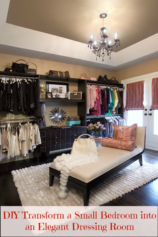DIY Transform a Small Bedroom into an Elegant Dressing Room