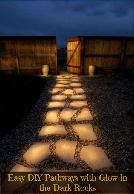 DIY glowing pathway