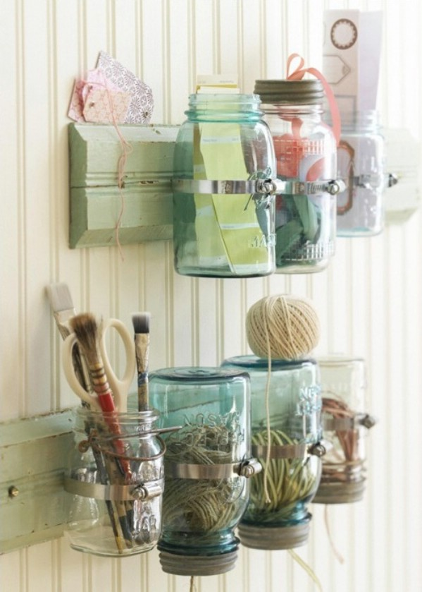 Fresh DIY storage mason jars