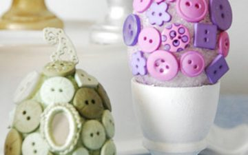 Cute diy easter button eggs