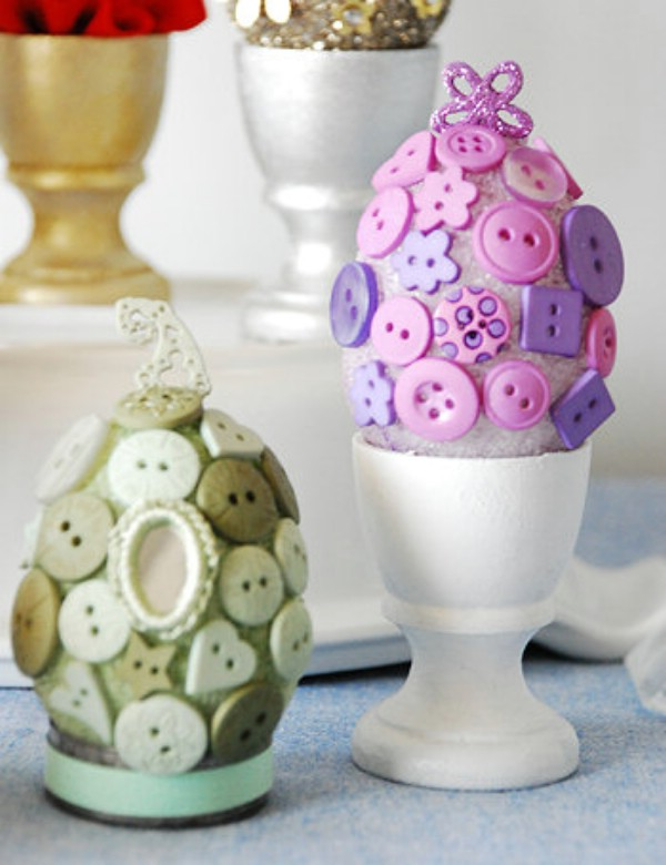 Cute diy easter button eggs
