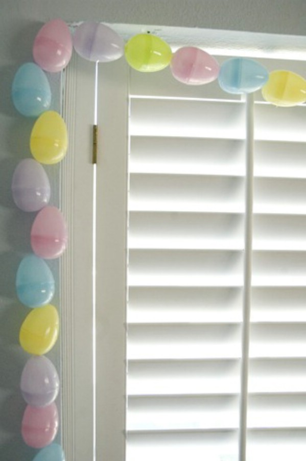 DIY easter egg garland craft