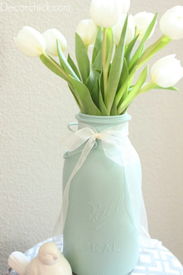 DIY Easter mason jar vase