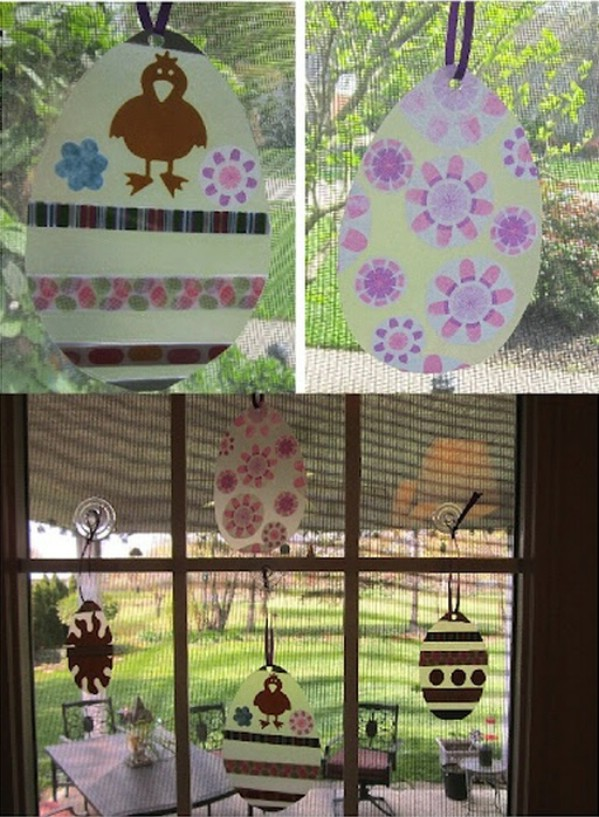 Fun sun catcher diy Easter project.