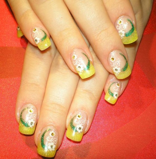 Easter gel nail design art