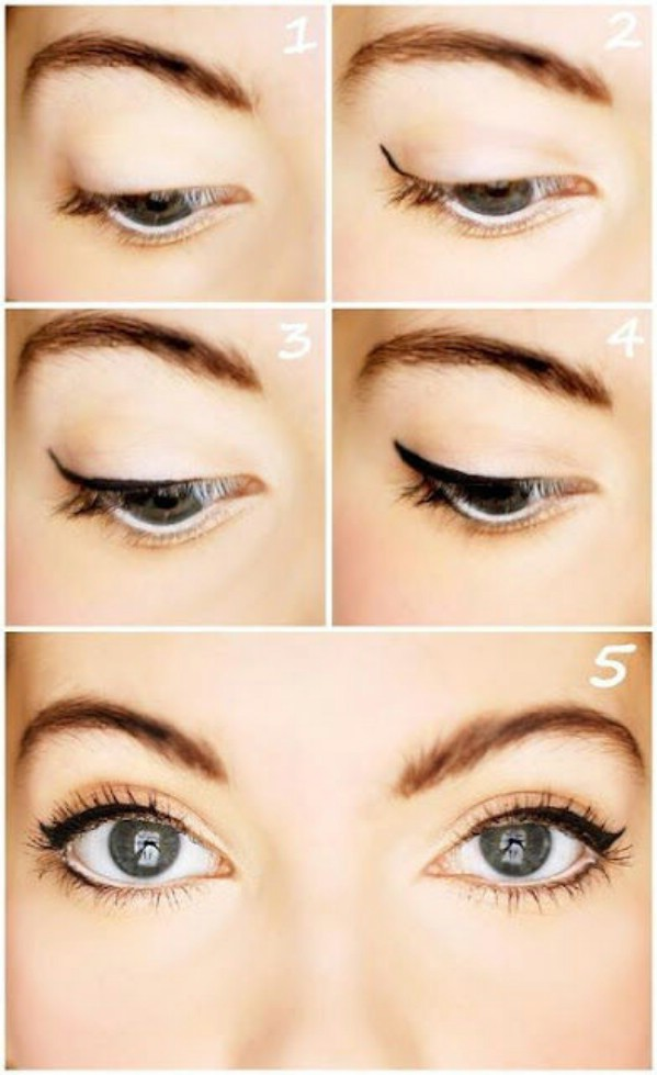 Eyeliner enhances your eyes and your whole look. However, it's important to know how to apply it correctly, to avoid a line that's thick and messy. This video shows the easy way to apply eyeliner.