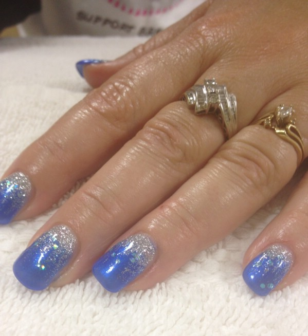 elegant blue gel nail design - Gel Nails Designs Ideas
