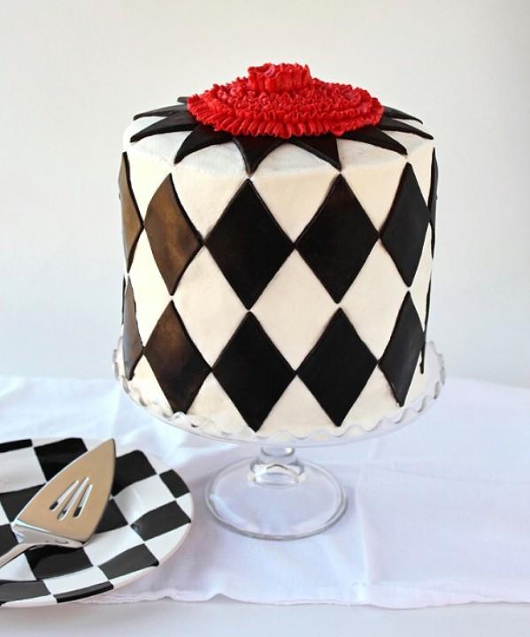 Harlequin cake