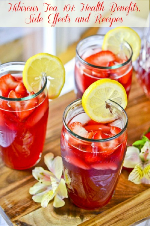 Hibiscus tea served