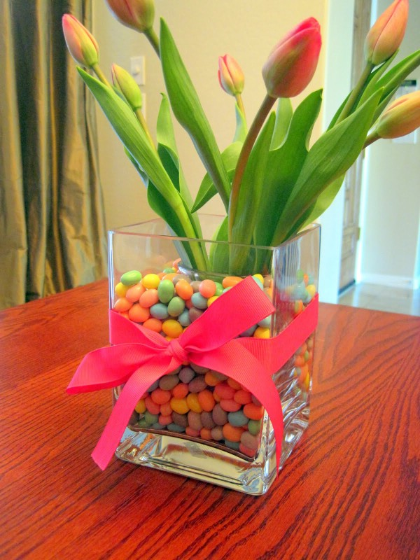 Jelly bean Easter diy vase