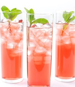 Mint Hibiscus iced tea