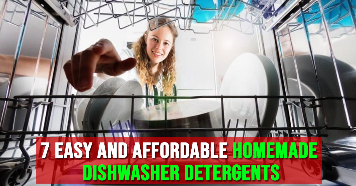 Homemade dishwasher detergents