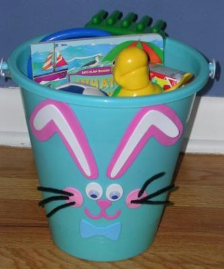 Bunny pail Easter basket