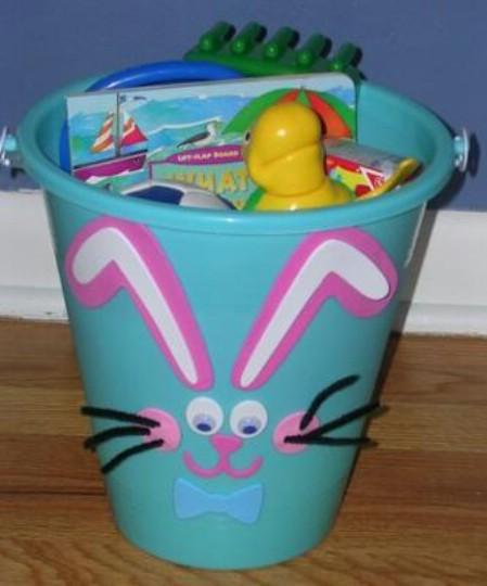 Bunny pail Easter basket