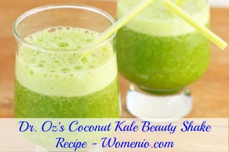 Dr. Oz's coconut kale beauty shake recipe
