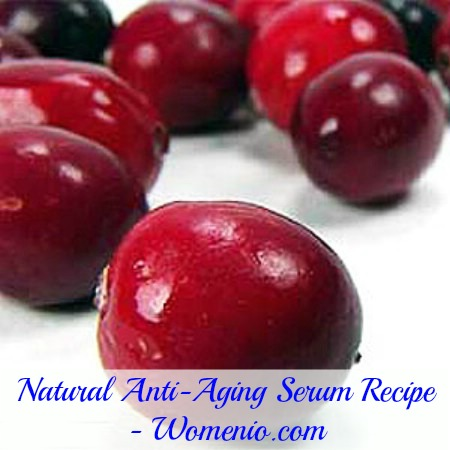 Cranberry seed oil based serum