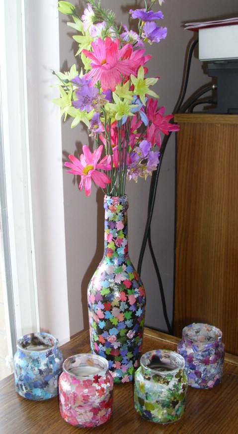 DIY Modge podge vase