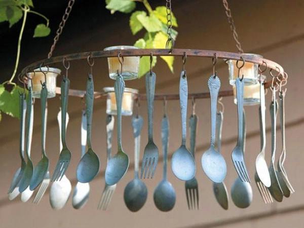 Spoon wind chimes
