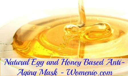 Egg honey revitalizing facial mask