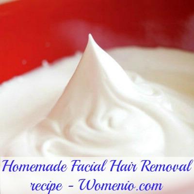 Homemade facial hair removal recipe