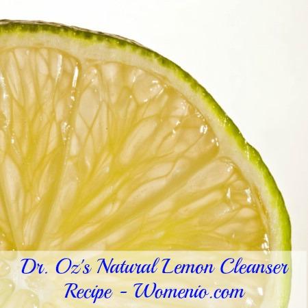 Dr Oz's Lemon Cleanser Recipe