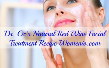 Dr Oz red wine beauty mask