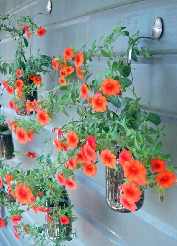 DIY flower garden hooks