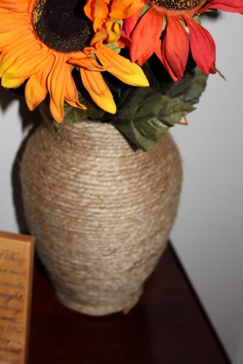 DIY twine vases