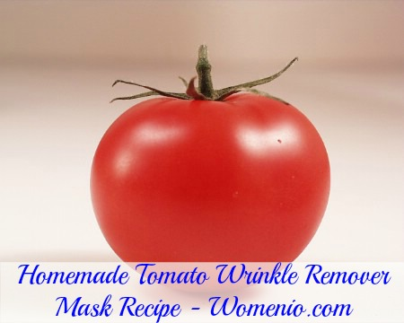 Natural wrinkle remover tomato mask