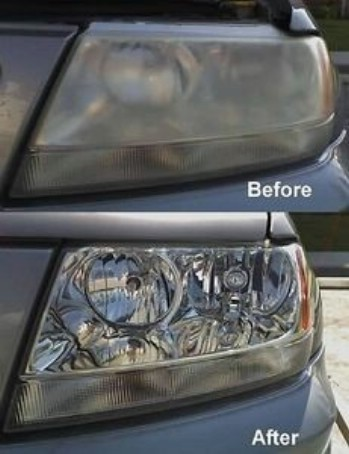 headlight toothpaste cleaning diy